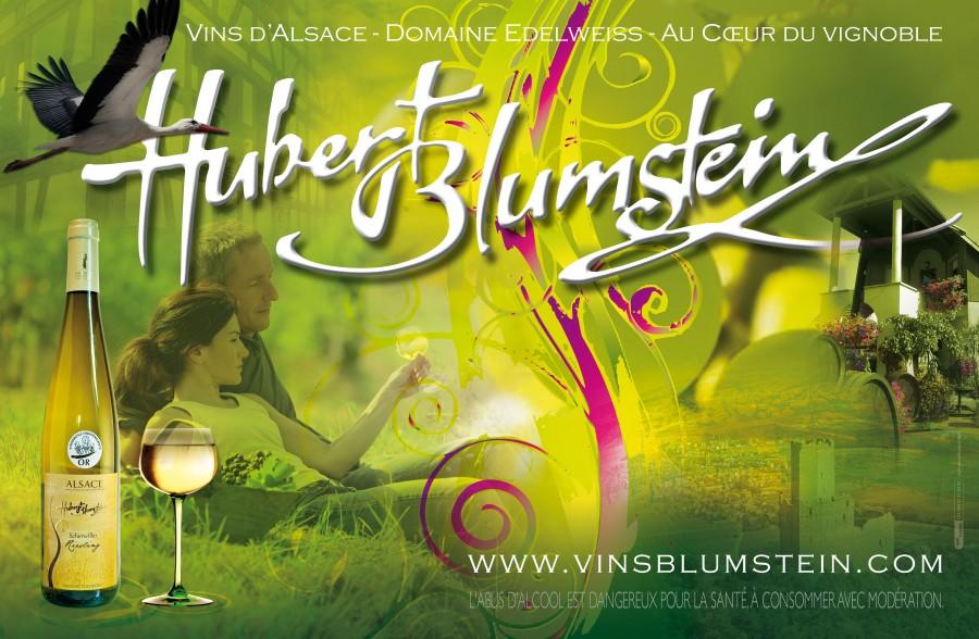 Charte Graphique du Viticulteur Hubert Blumstein de Scherwiller par l'Agence Cré Home.
