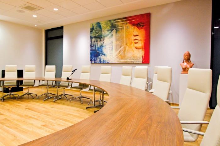 """Toile """"Marianne Et Caetera"""" dans la salle du conseil municipale de la Mairie de Wolfisheim par l'Agence Cré Home."""