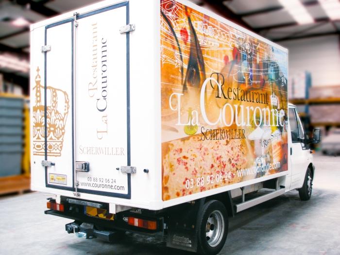 Camion frigorifique du Restaurant À la Couronne de Scherwiller par l'Agence Cré Home.