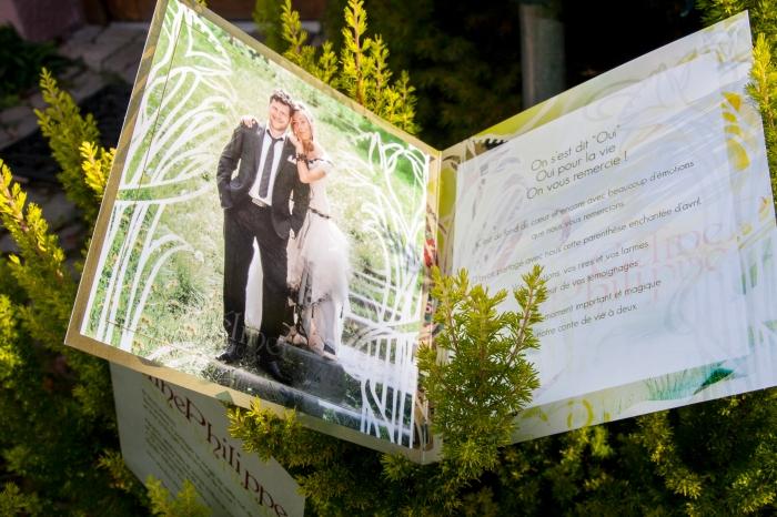 Faire-part de mariage de Céline & Philippe par l'Agence Cré Home.