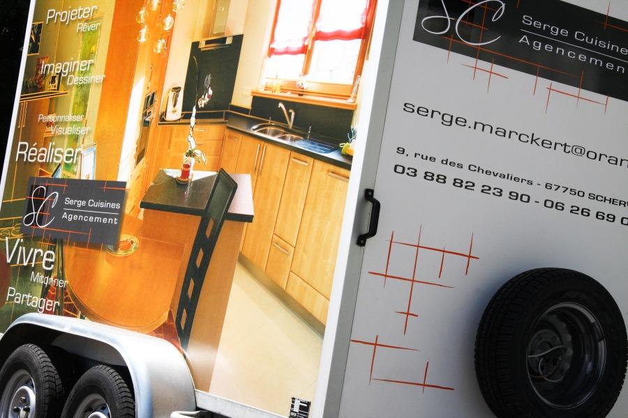 Charte graphique et décoration de remorque Serge Cuisine par l'Agence Cré Home.