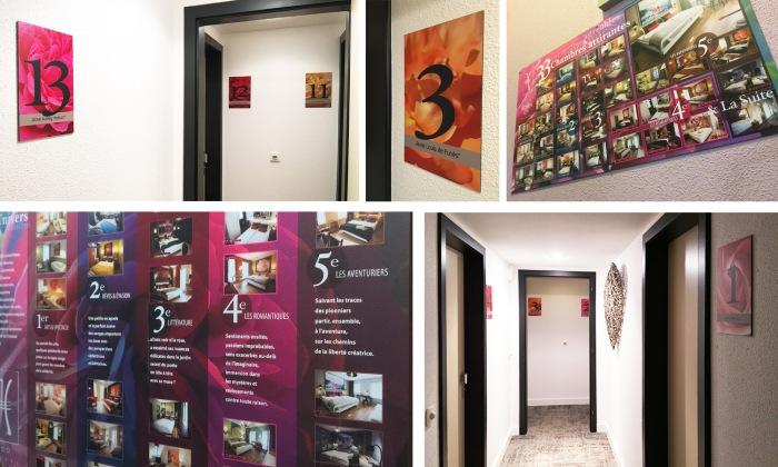Création et composition d'éléments de communications pour l'Hôtel Roses à Strasbourg par l'Agence Cré Home.