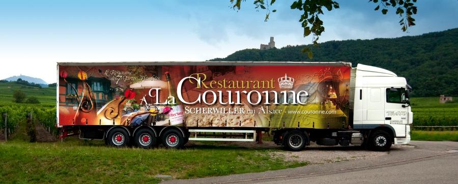 Semi-remorque Restaurant à la Couronne - Scherwiller par l'Agence Cré Home.